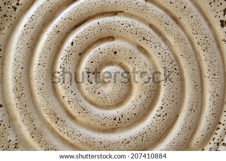 Spiral form made on natural shell - stock photo
