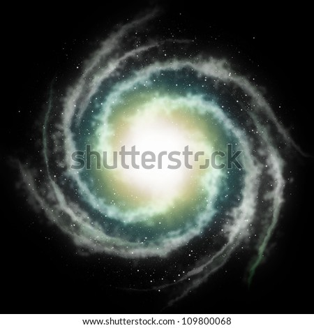 spiral galaxy background - stock photo