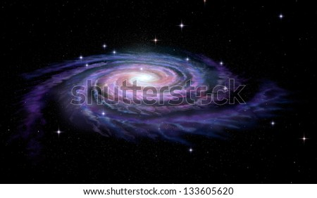 Spiral Galaxy Milky Way - stock photo