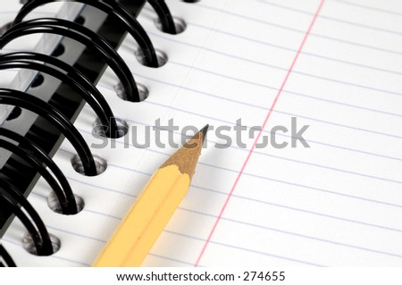 Spiral Notebook and a Pencil.