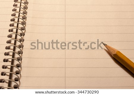 spiral  notebook pencil