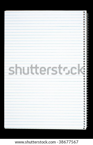 Spiral Notebook with Blank Page