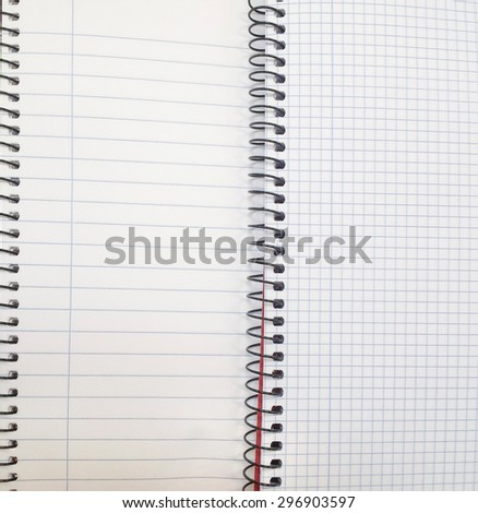 spiral notebooks to write stripes and squares