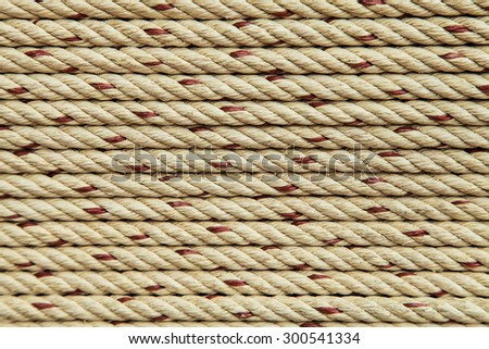 Spiral of rope background - stock photo