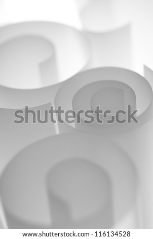 Spiral paper rolls abstract background template