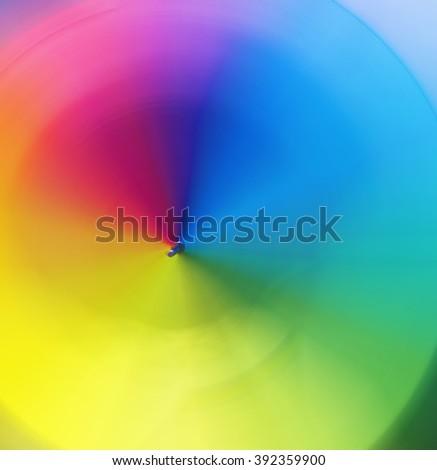 Spiral rainbow - blur - selective focus - stock photo