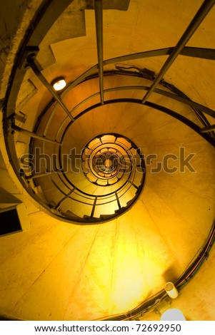 Spiral Stair inside the Triomphe arch in Paris