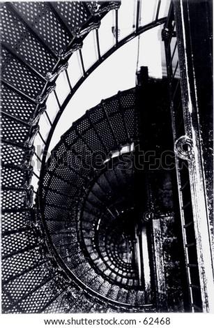 Spiral Staircase - stock photo