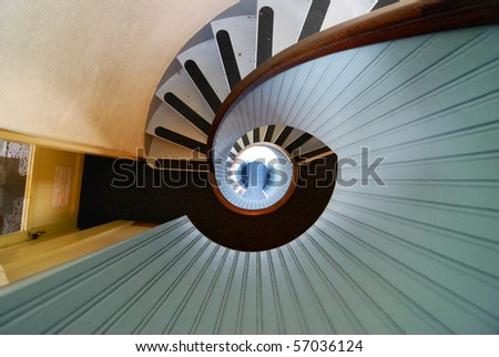 Spiral Staircase at The Old Lighthouse, Point Loma in San Diego