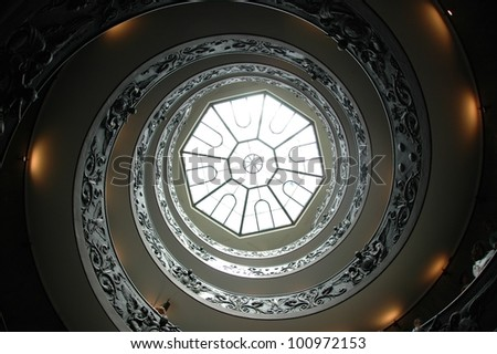 Spiral staircase in the Vatican museums, Italy