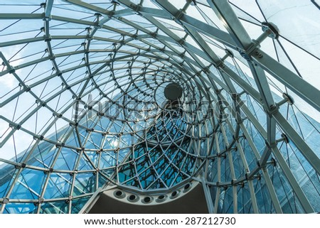 Spiral structure construction - stock photo