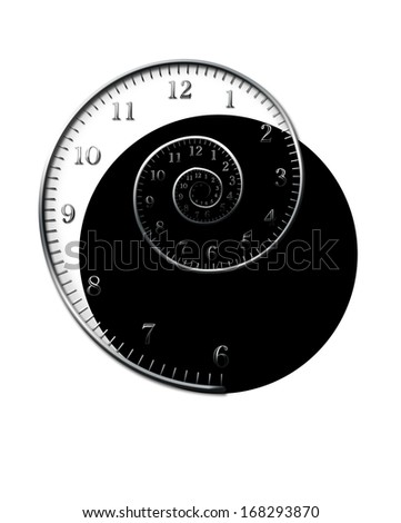 Spiral Time - stock photo
