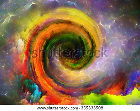 Spirals Are Forever series. Backdrop composed of spiral fractal and suitable for use in the projects on science, technology and design - stock photo