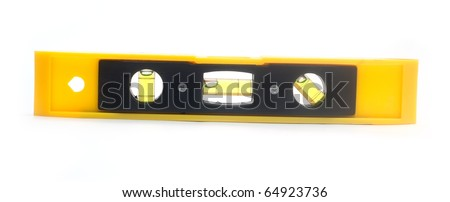 Spirit level. Isolated over white background with clipping path