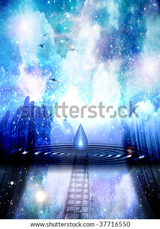 Spiritual Abstract - stock photo
