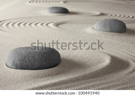 spiritual meditation zen garden concept for relaxation concentration harmony balance and simplicity holistic tao buddhism or spa treatment - stock photo