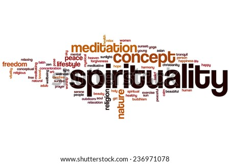 Spirituality word cloud concept - stock photo