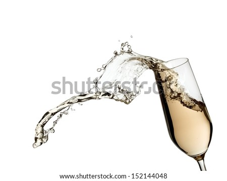 Splash from a champagne glass