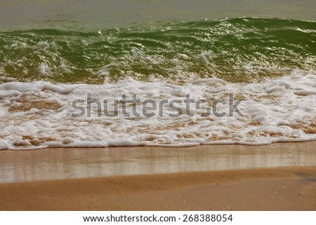 Splash of little wave in Mediterranean Sea in Israel - stock photo