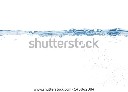 Splash of pure water wave isolated on the white - stock photo