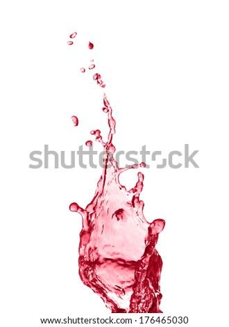 Splash of red juice - stock photo