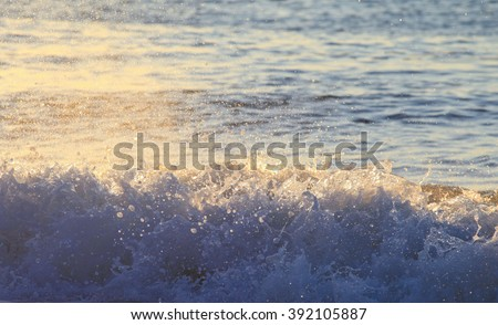 Splash of the sea