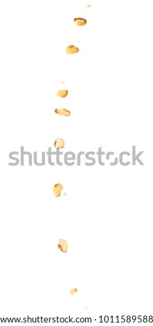 Splash of transparent liquid in motion isolated over the white background