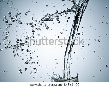 Splash of water - stock photo