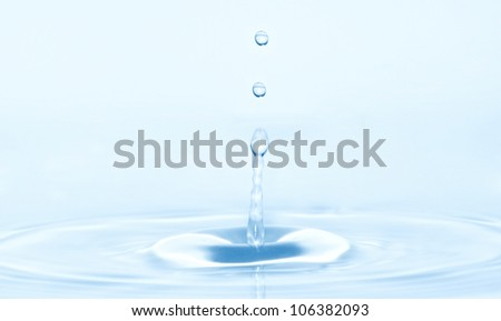 splash of water blue drops