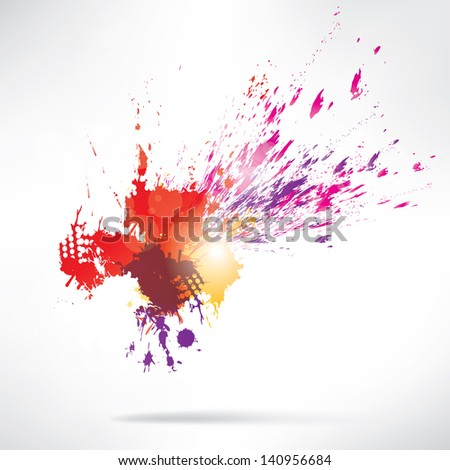 Splash on abstract background - stock photo