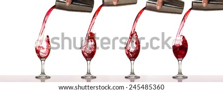Splash red wine - stock photo