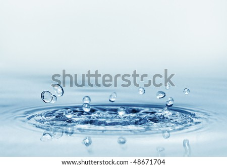 splash water