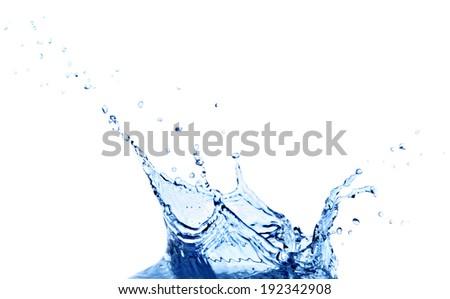 Splash water isolated - stock photo