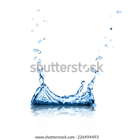 Splash water isolated