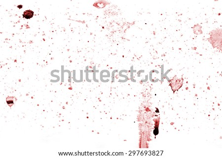 Splashes of color isolated on white background