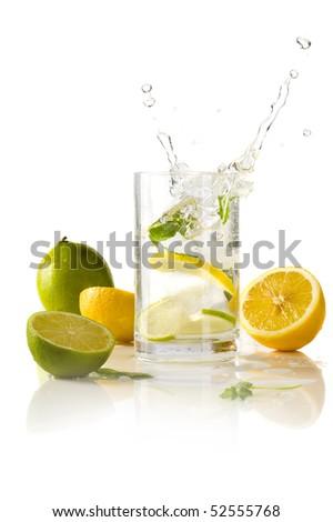 splashing cocktail - stock photo