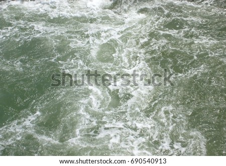 Splashing foam ocean water texture surface background