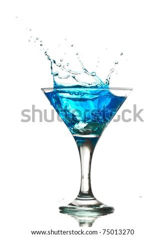 splashing into a martini - stock photo