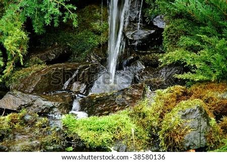 Splashing water - stock photo