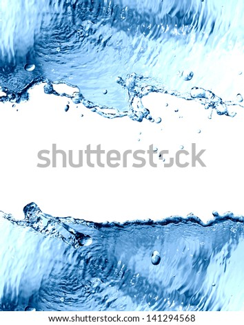Splashing water abstract background with free space for text or image - stock photo