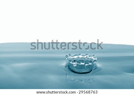splashing water drop showing a health concept