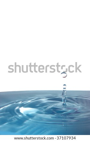 splashing water drop showing a healthy wellness concept