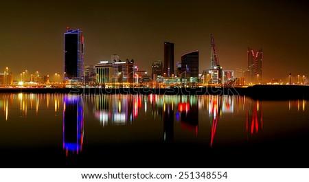 Splendid striking HDR of Bahrain Skyline - stock photo