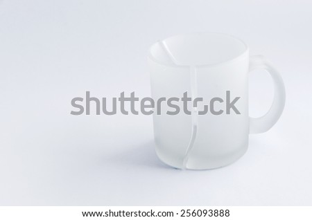 Split by vertical matt mug.