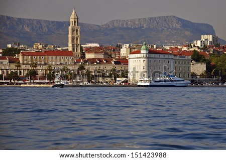 Split cityscape from the sea
