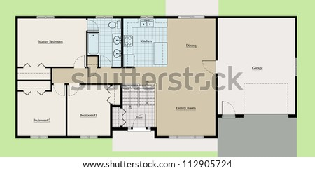 bungalow floor plan stock images, royalty-free images & vectors