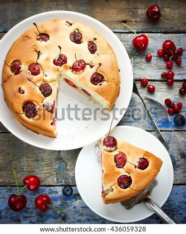 English Trifle Filled Pie Hot Coffee Stock Photo 235160284