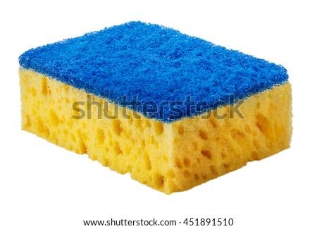 sponge isolated on the white background clipping path - stock photo
