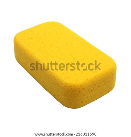 Sponge isolated on white background - stock photo