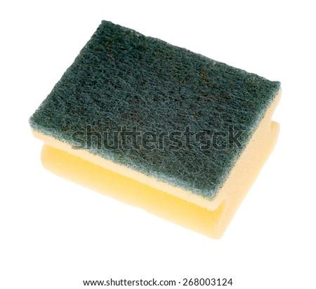 Sponge isolated on white background / Sponge - stock photo